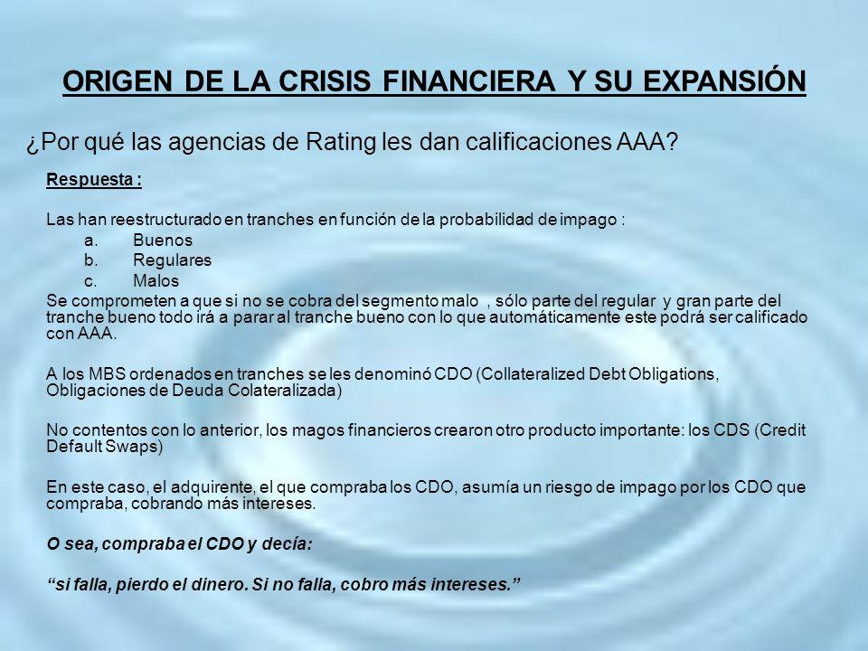 ¿Por qué las agencias de Rating les dan calificaciones AAA