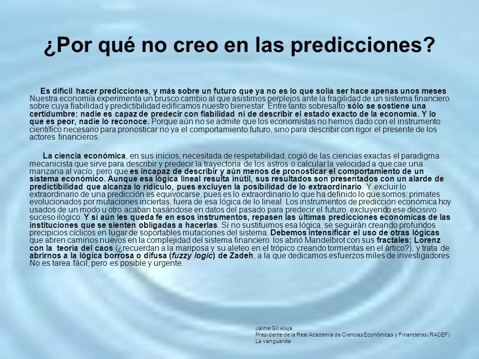 ¿Por qué no creo en las predicciones