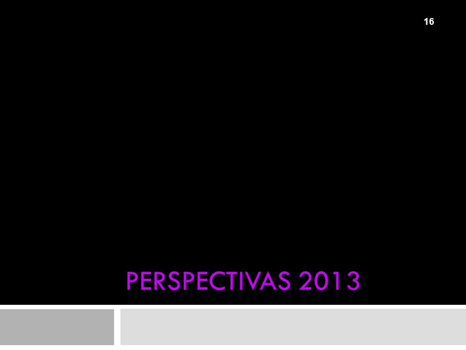 PERSPECTIVAS 2013