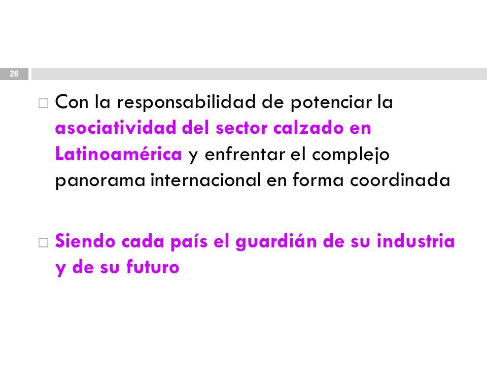 Con la responsabilidad de potenciar la asociatividad del sector calzado en Latinoamérica y enfrentar el complejo panorama internacional en forma coordinada