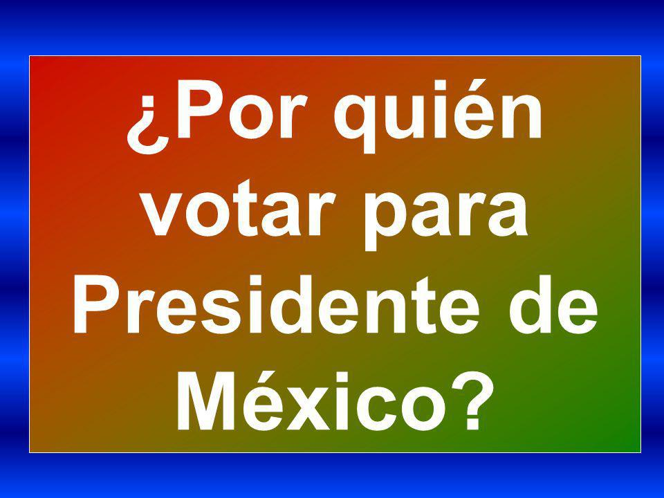 ¿Por quién votar para Presidente de México