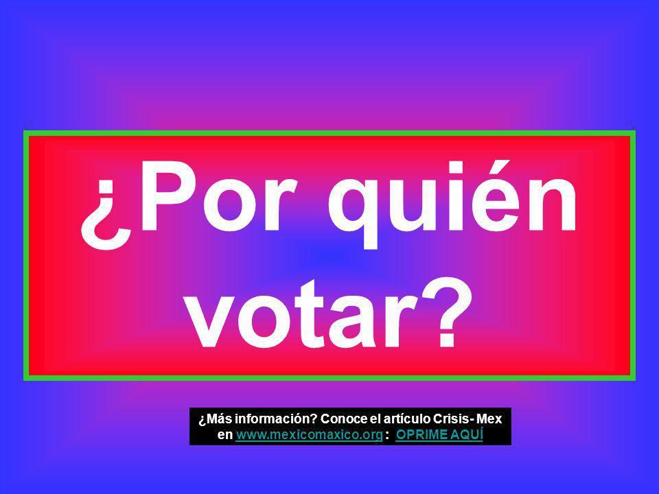 ¿Por quién votar. ¿Más información.