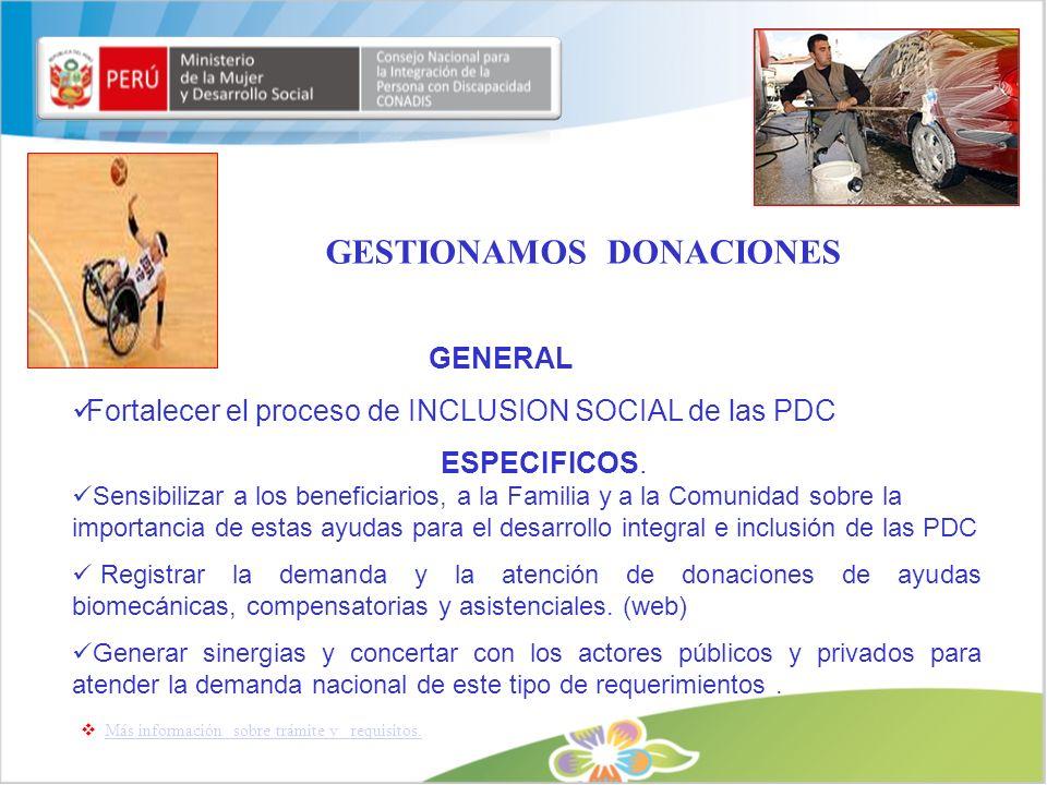 GESTIONAMOS DONACIONES