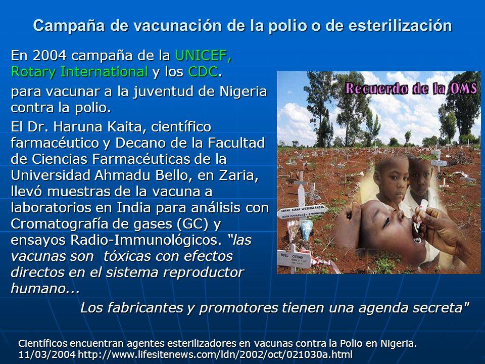 Campaña de vacunación de la polio o de esterilización