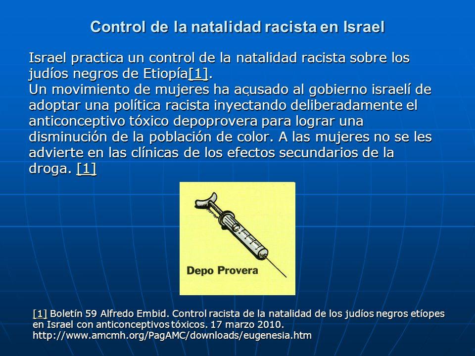 Control de la natalidad racista en Israel