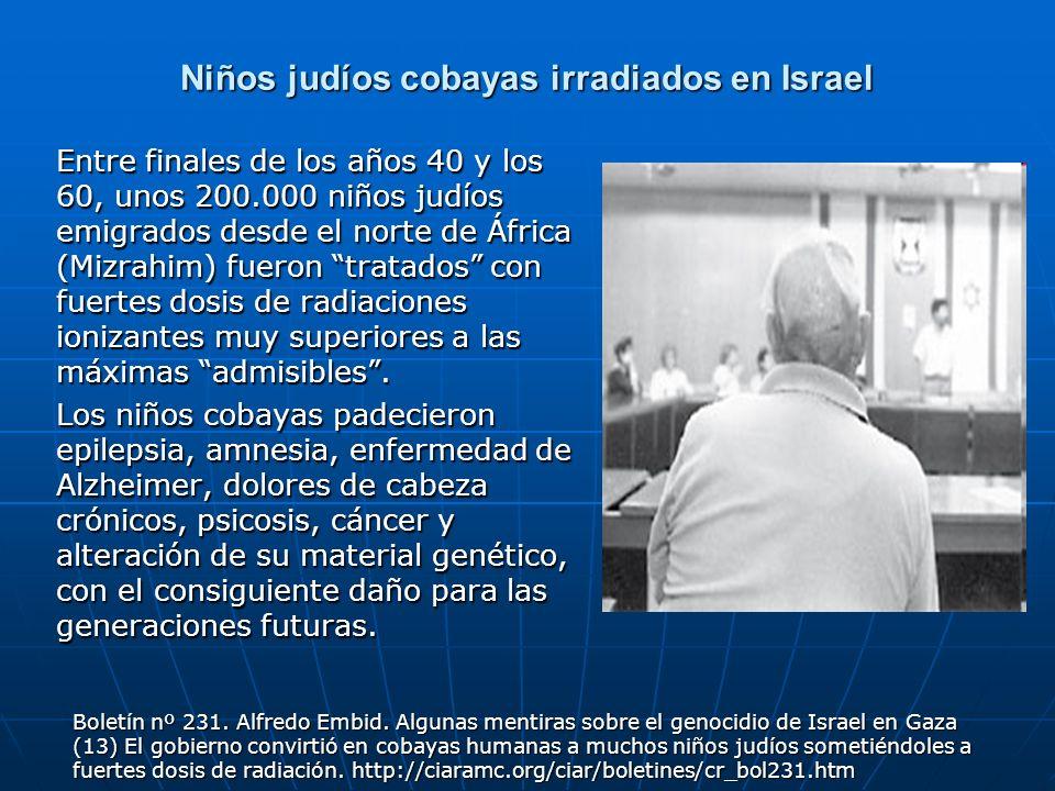 Niños judíos cobayas irradiados en Israel