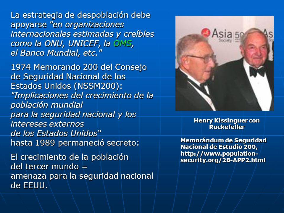 Henry Kissinguer con Rockefeller