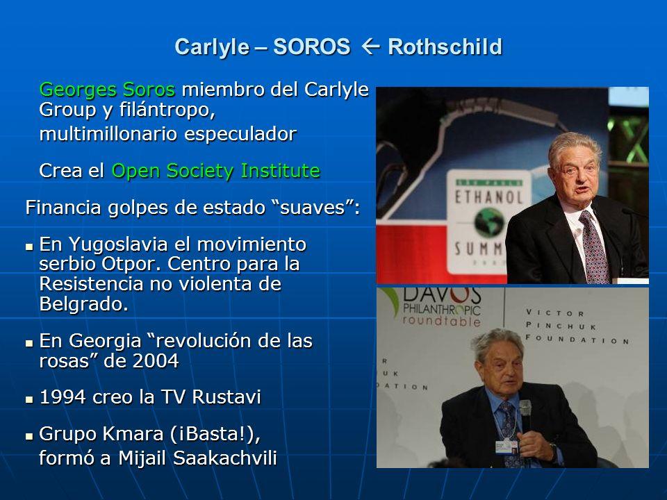 Carlyle – SOROS  Rothschild
