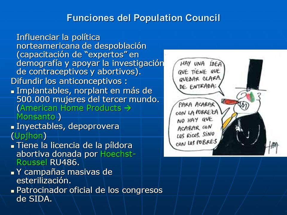Funciones del Population Council