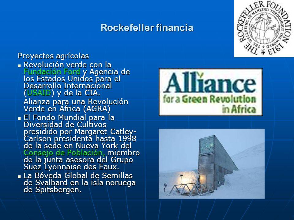 Rockefeller financia Proyectos agrícolas