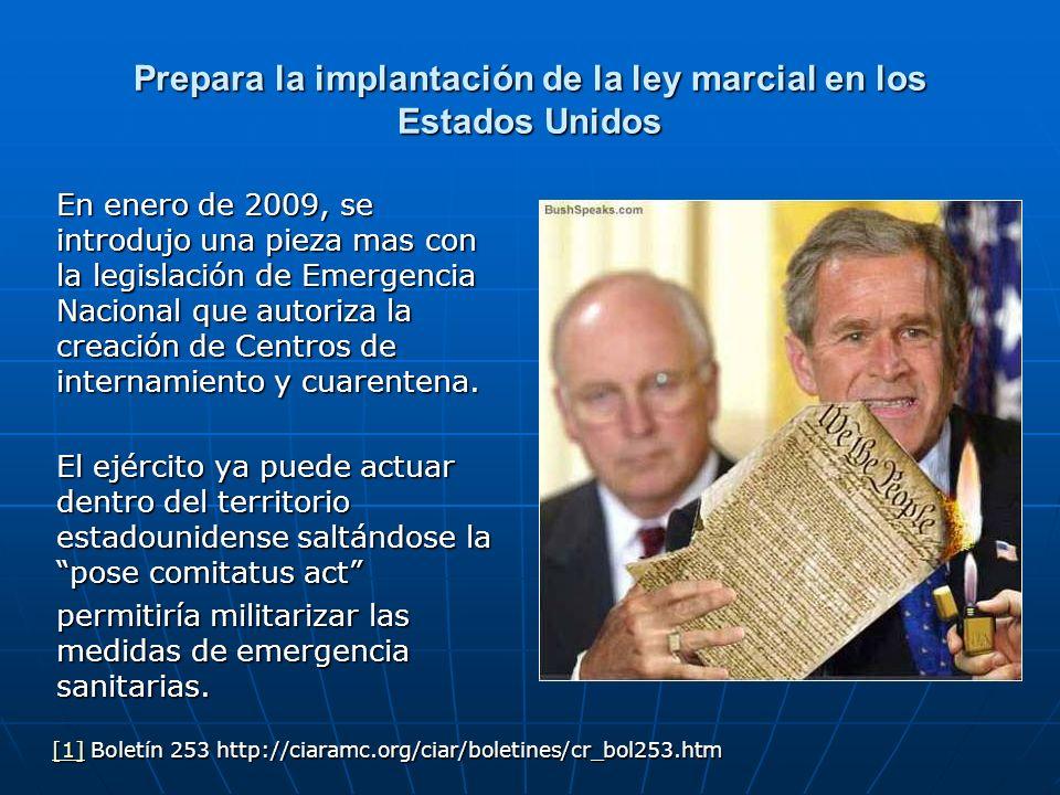 Prepara la implantación de la ley marcial en los Estados Unidos