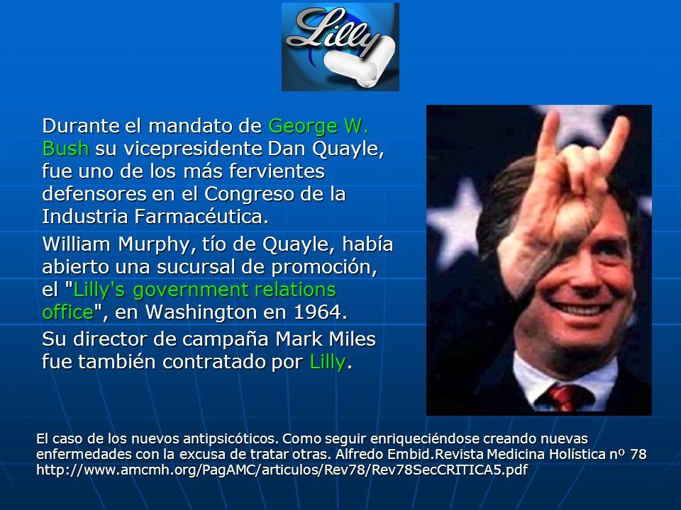 Su director de campaña Mark Miles fue también contratado por Lilly.