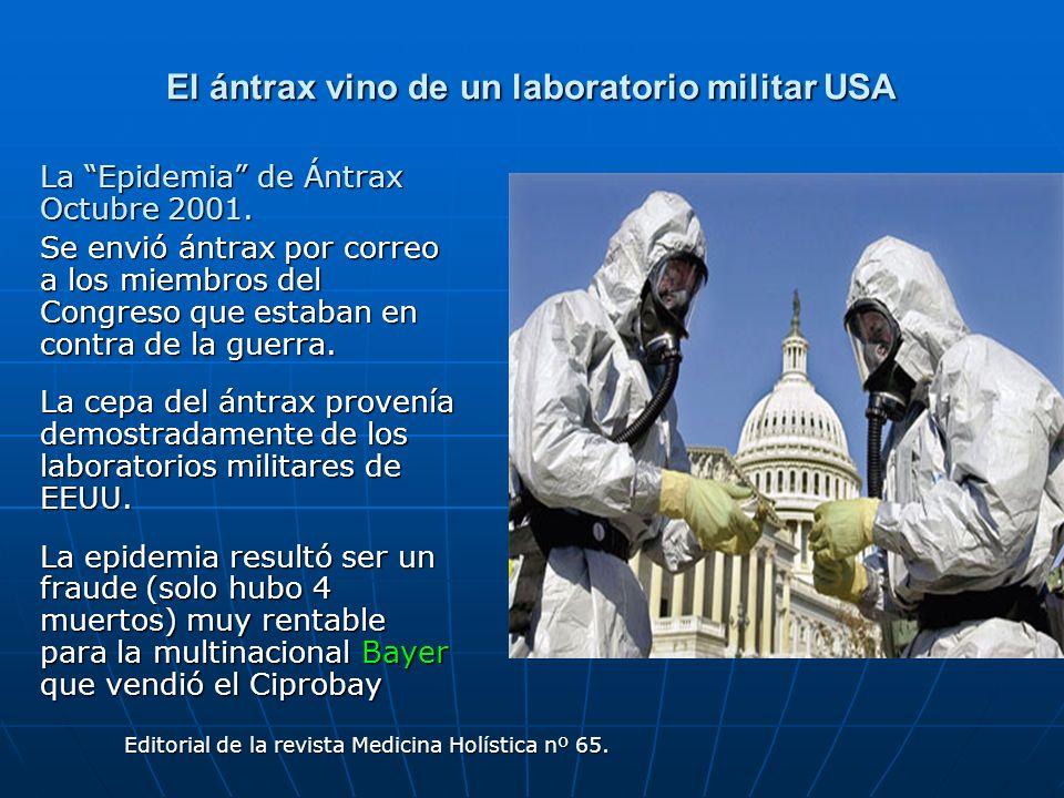 El ántrax vino de un laboratorio militar USA