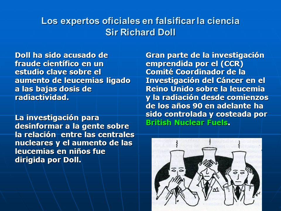 Los expertos oficiales en falsificar la ciencia Sir Richard Doll
