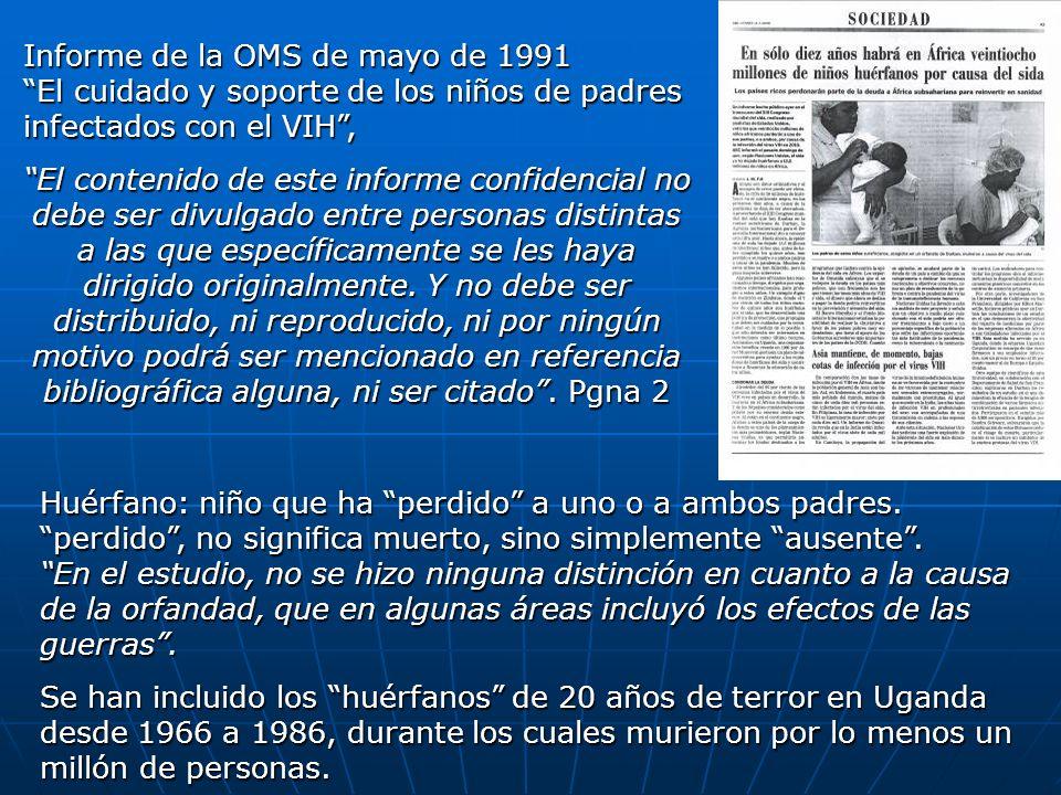 Informe de la OMS de mayo de 1991