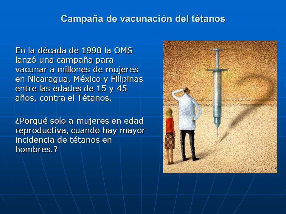 Campaña de vacunación del tétanos