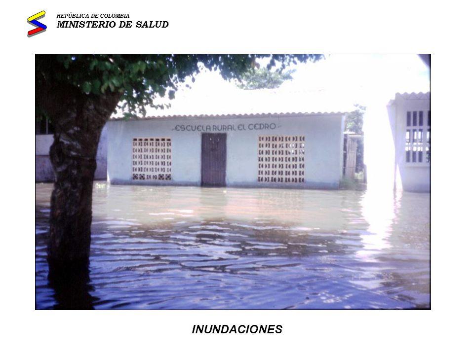 REPÚBLICA DE COLOMBIA MINISTERIO DE SALUD INUNDACIONES