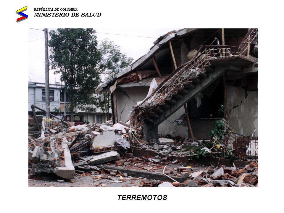 REPÚBLICA DE COLOMBIA MINISTERIO DE SALUD TERREMOTOS