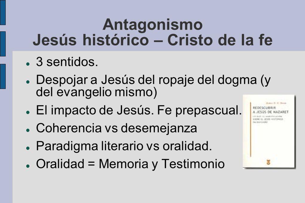 Antagonismo Jesús histórico – Cristo de la fe