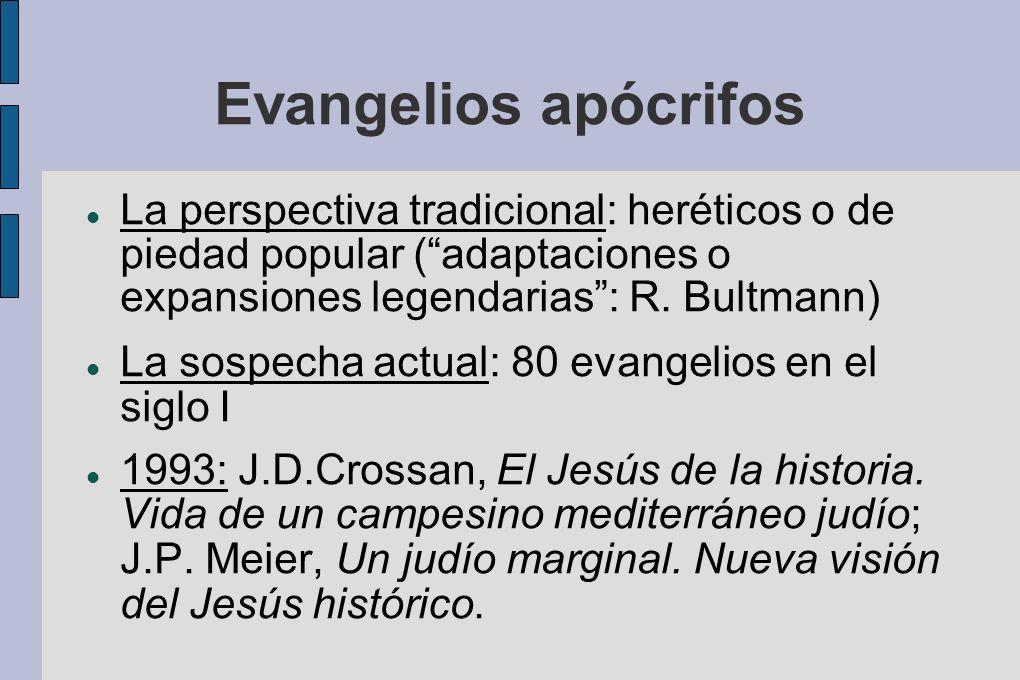 Evangelios apócrifos La perspectiva tradicional: heréticos o de piedad popular ( adaptaciones o expansiones legendarias : R. Bultmann)