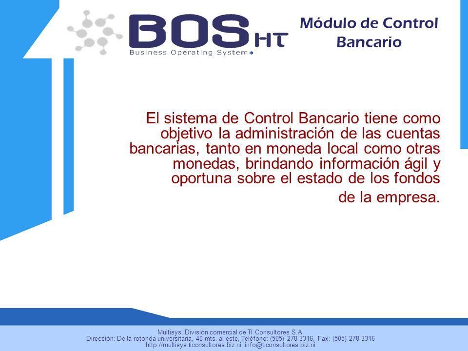 Módulo de Control Bancario
