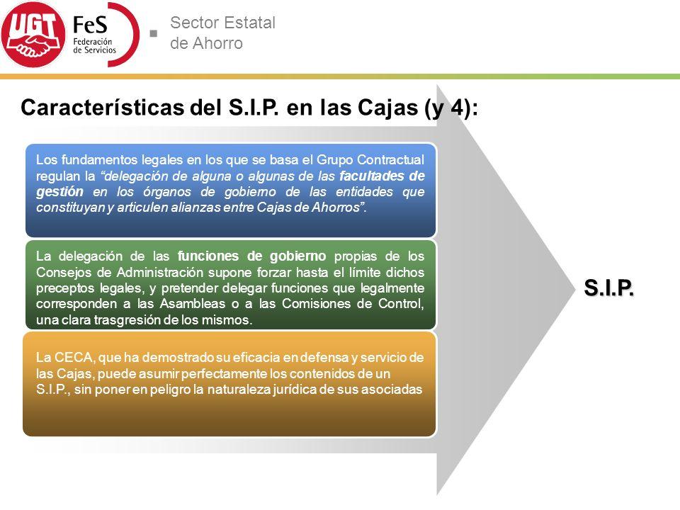 Características del S.I.P. en las Cajas (y 4):