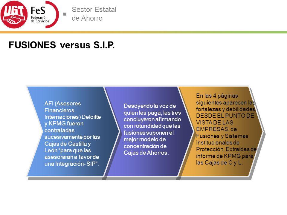 FUSIONES versus S.I.P.