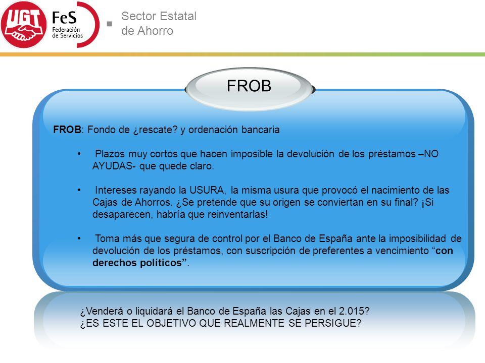 FROB FROB: Fondo de ¿rescate y ordenación bancaria