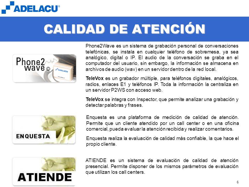 CALIDAD DE ATENCIÓN