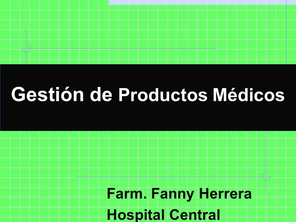 Gestión de Productos Médicos Hospital Central - Mendoza