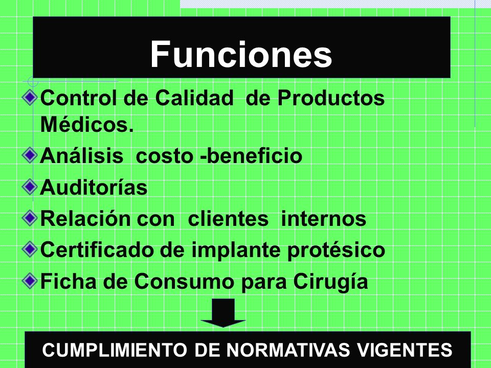 CUMPLIMIENTO DE NORMATIVAS VIGENTES
