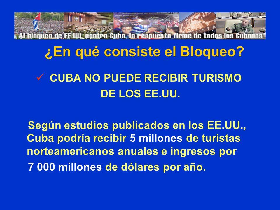 ¿En qué consiste el Bloqueo CUBA NO PUEDE RECIBIR TURISMO