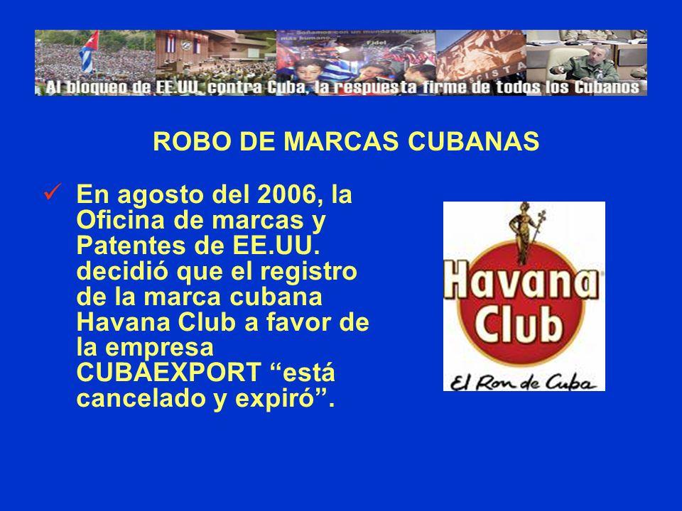 ROBO DE MARCAS CUBANAS
