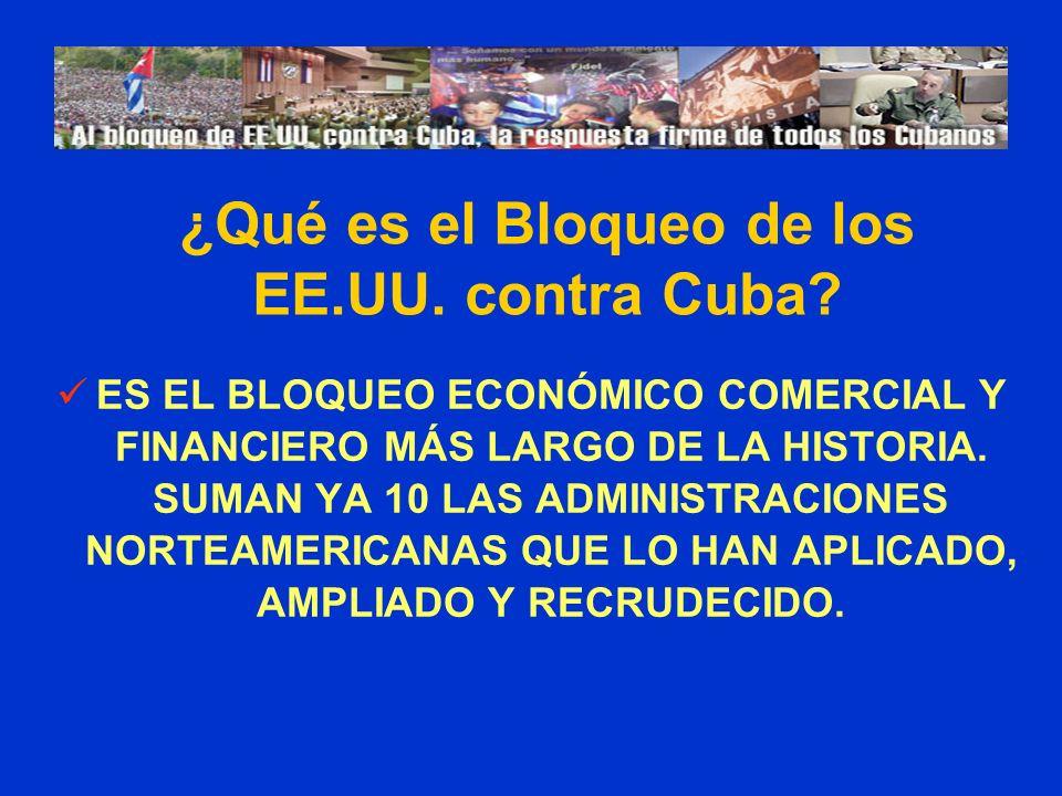 ¿Qué es el Bloqueo de los EE.UU. contra Cuba