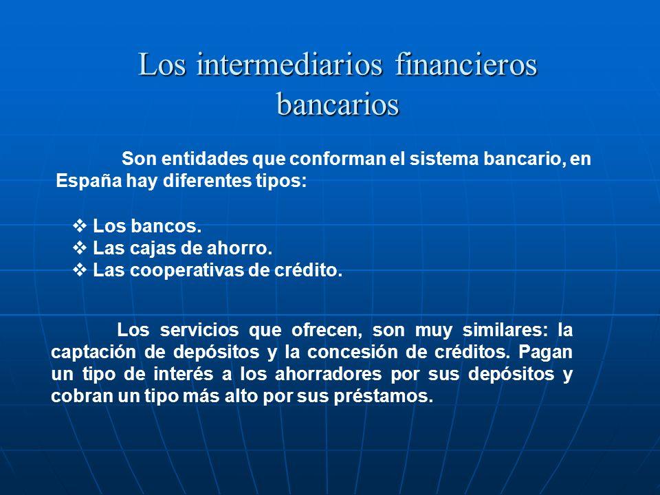 Los intermediarios financieros bancarios