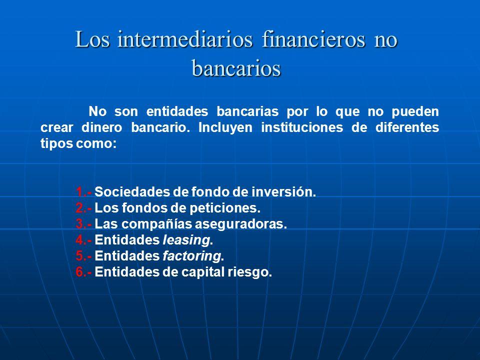 Los intermediarios financieros no bancarios