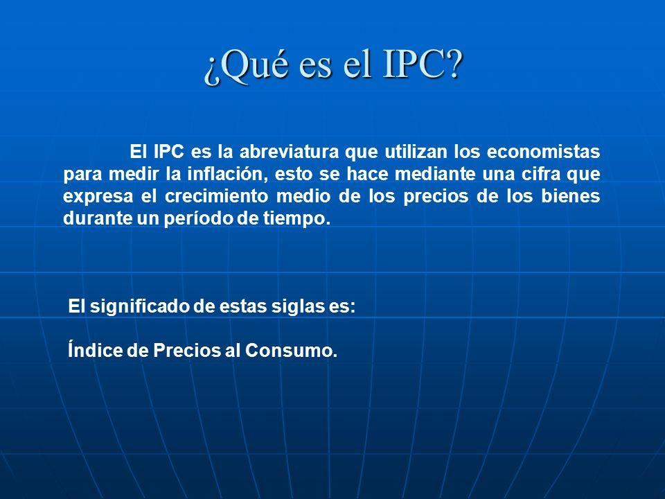¿Qué es el IPC