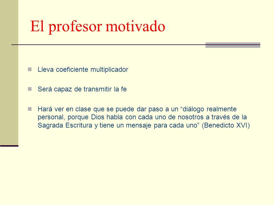 El profesor motivado Lleva coeficiente multiplicador