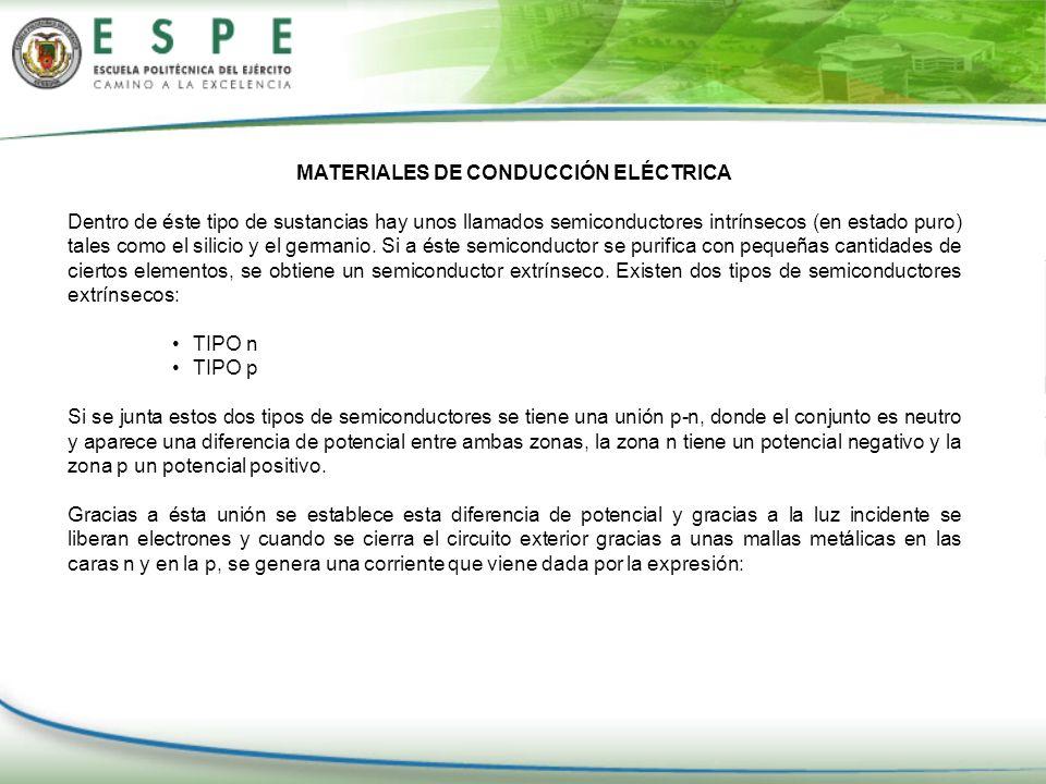 MATERIALES DE CONDUCCIÓN ELÉCTRICA