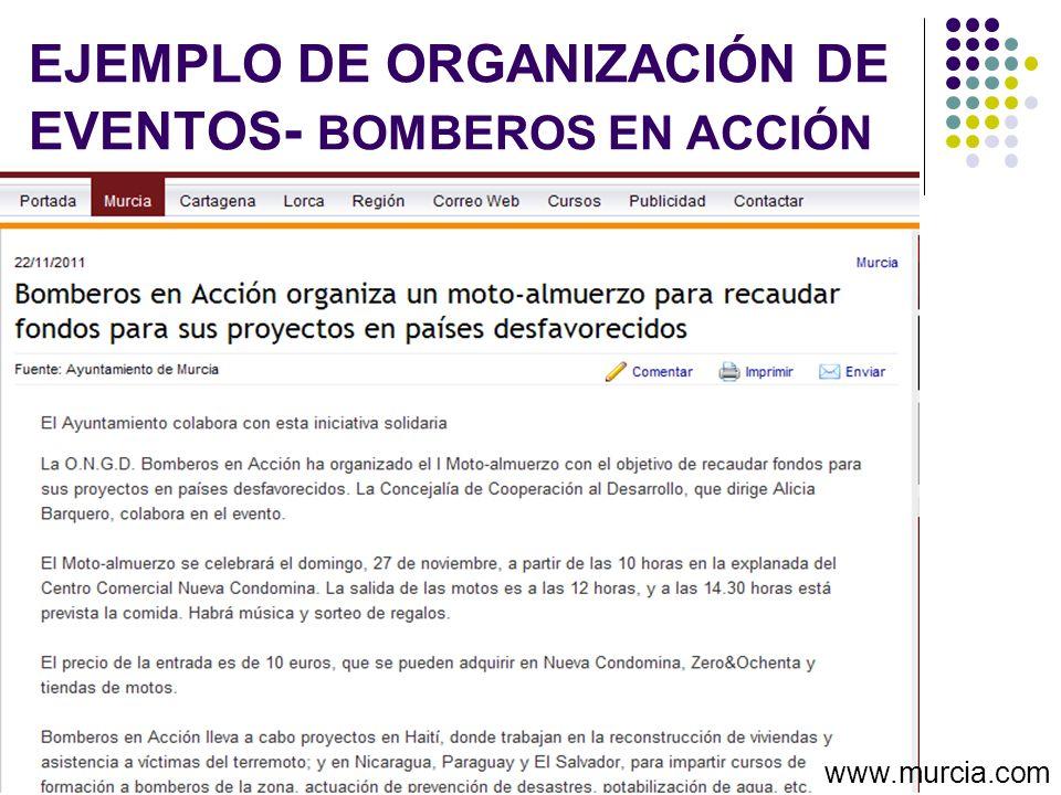 EJEMPLO DE ORGANIZACIÓN DE EVENTOS- BOMBEROS EN ACCIÓN