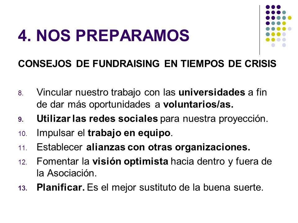 4. NOS PREPARAMOS CONSEJOS DE FUNDRAISING EN TIEMPOS DE CRISIS