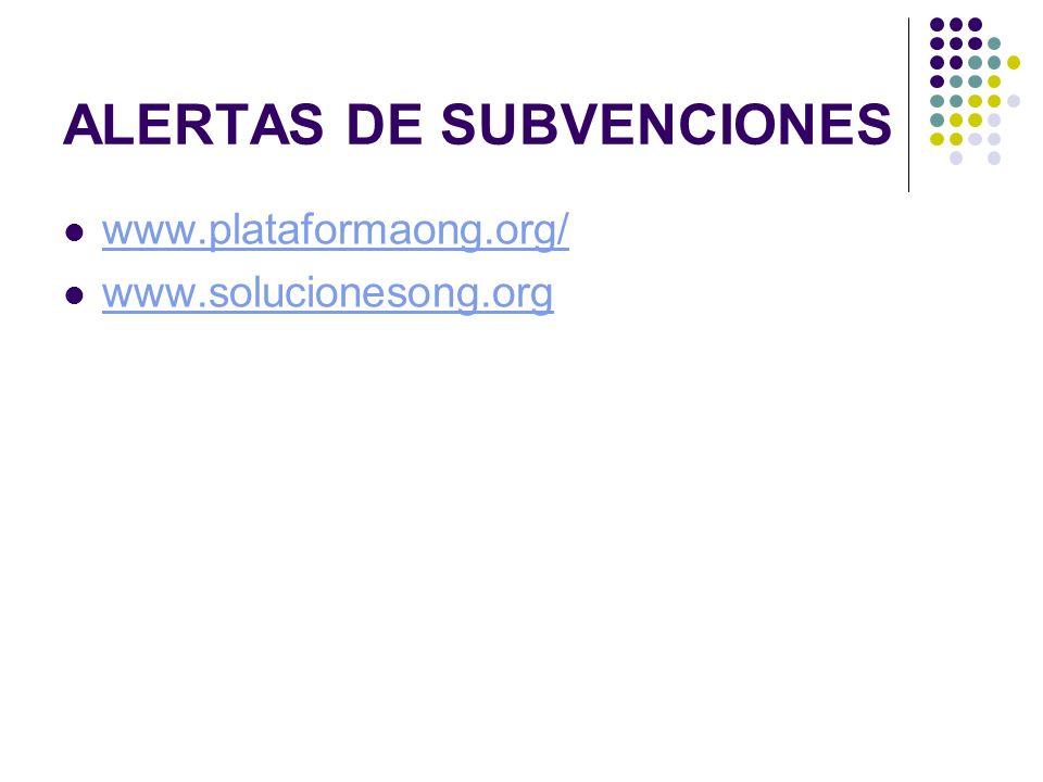 ALERTAS DE SUBVENCIONES