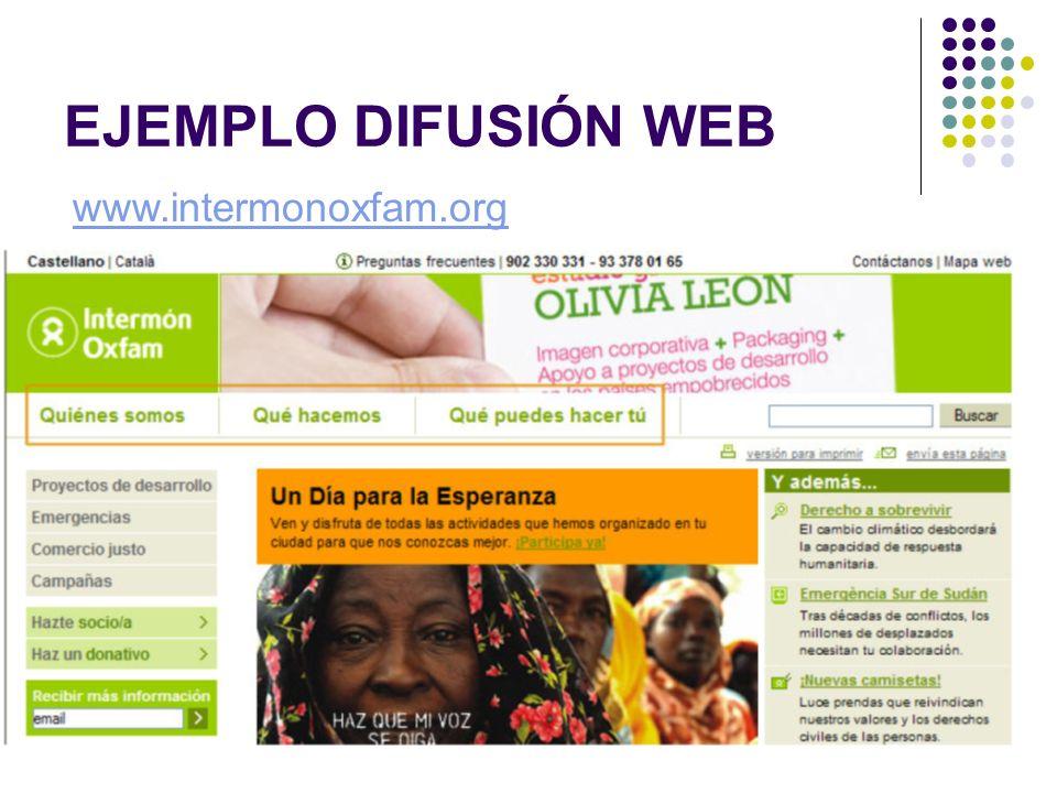 EJEMPLO DIFUSIÓN WEB www.intermonoxfam.org