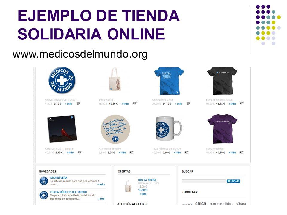 EJEMPLO DE TIENDA SOLIDARIA ONLINE