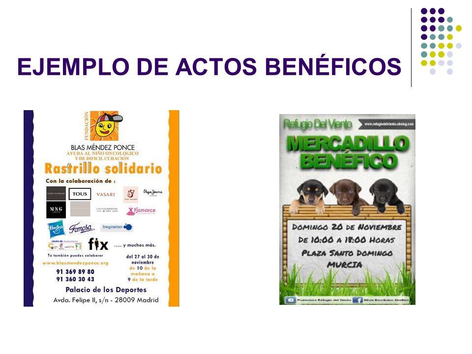 EJEMPLO DE ACTOS BENÉFICOS