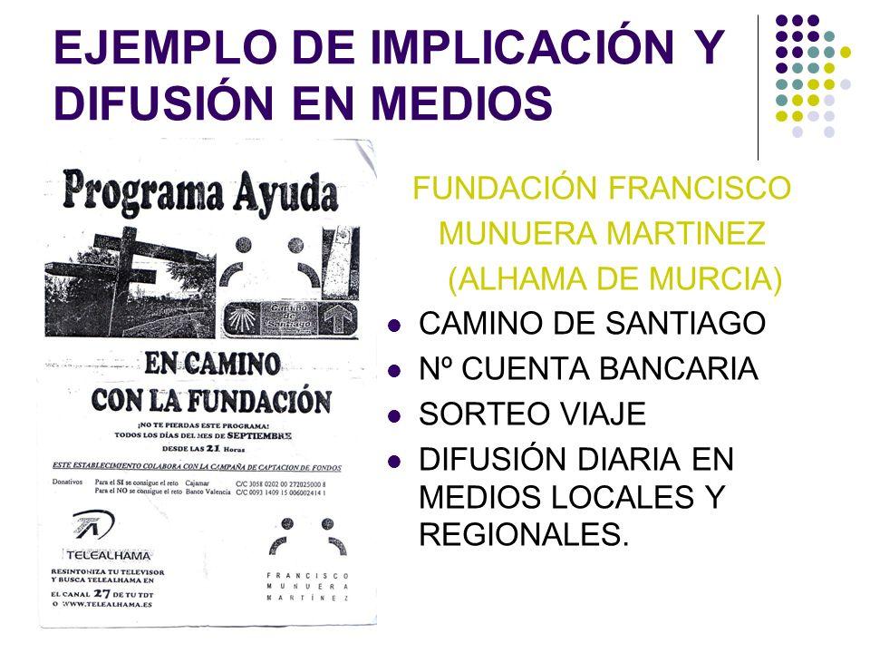 EJEMPLO DE IMPLICACIÓN Y DIFUSIÓN EN MEDIOS
