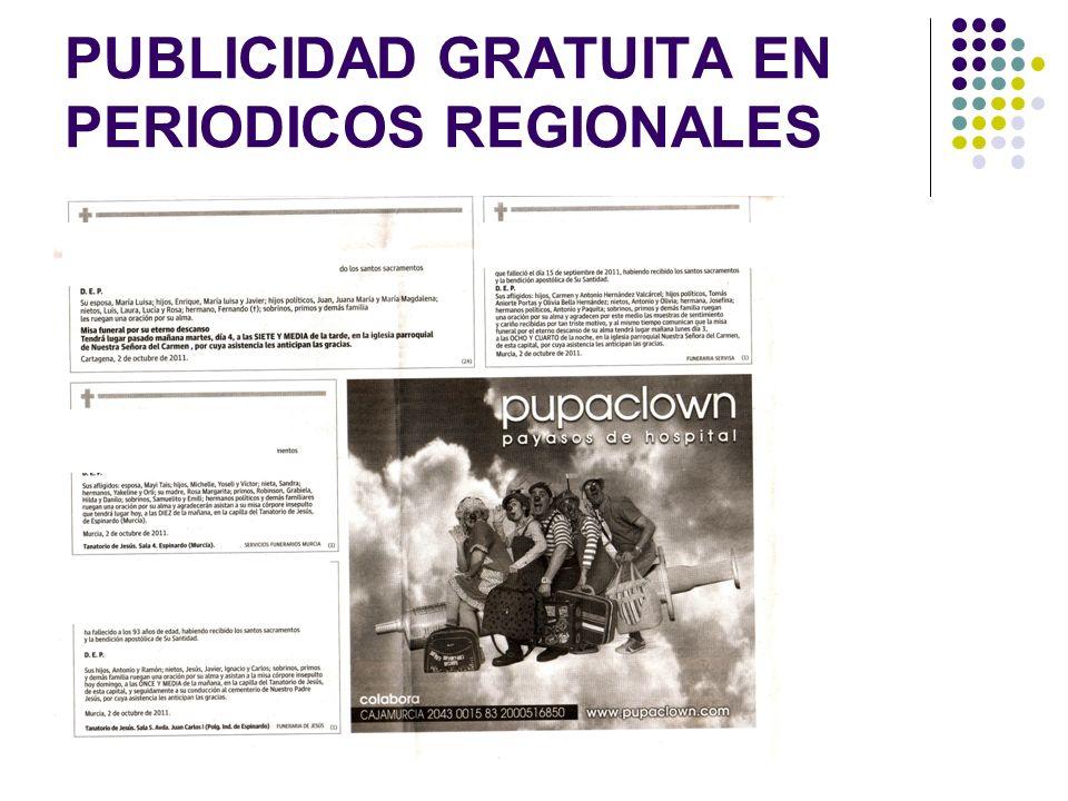 PUBLICIDAD GRATUITA EN PERIODICOS REGIONALES