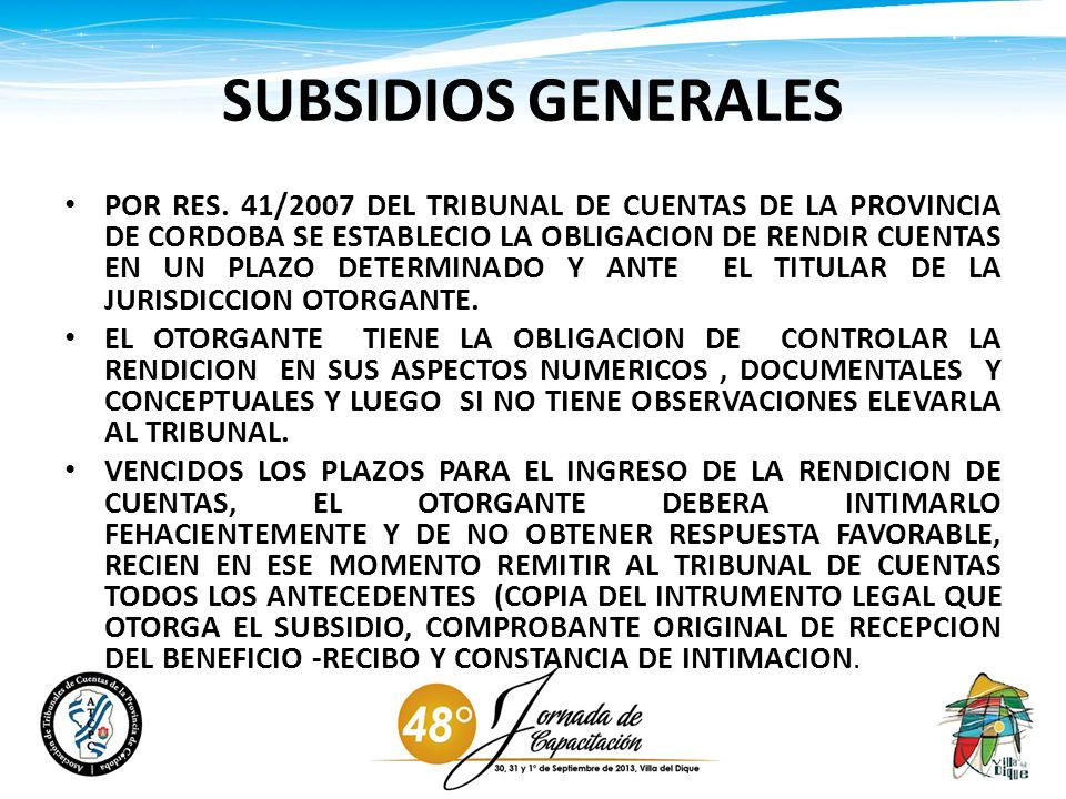 SUBSIDIOS GENERALES