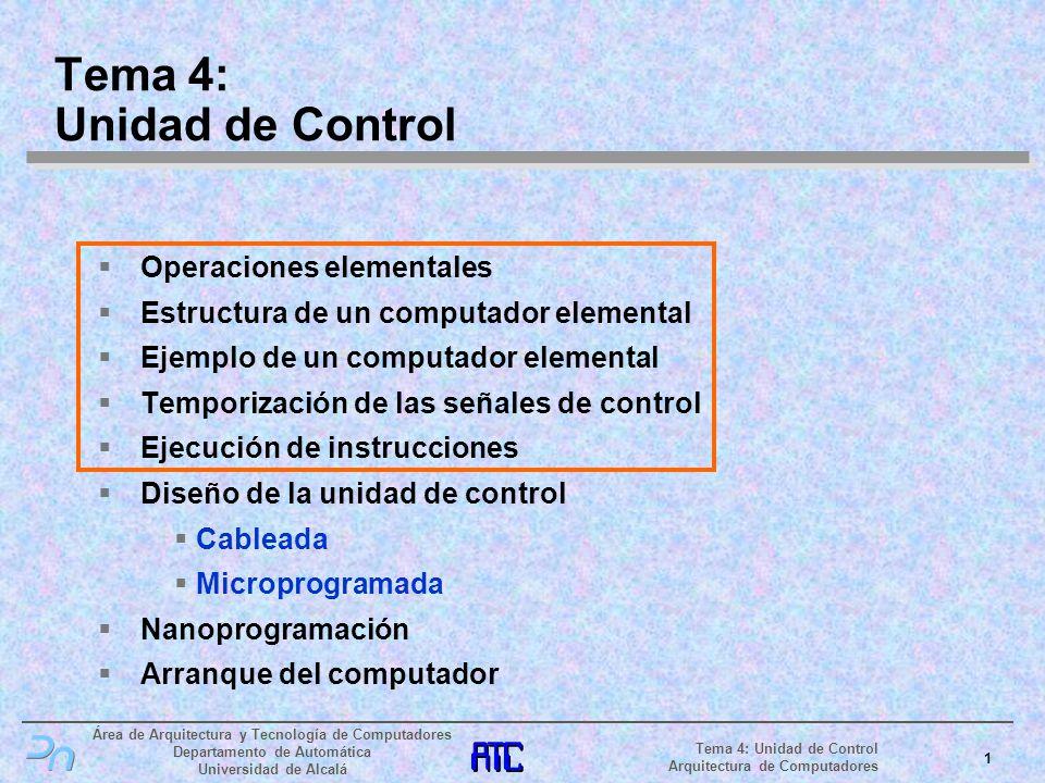 Tema 4: Unidad de Control