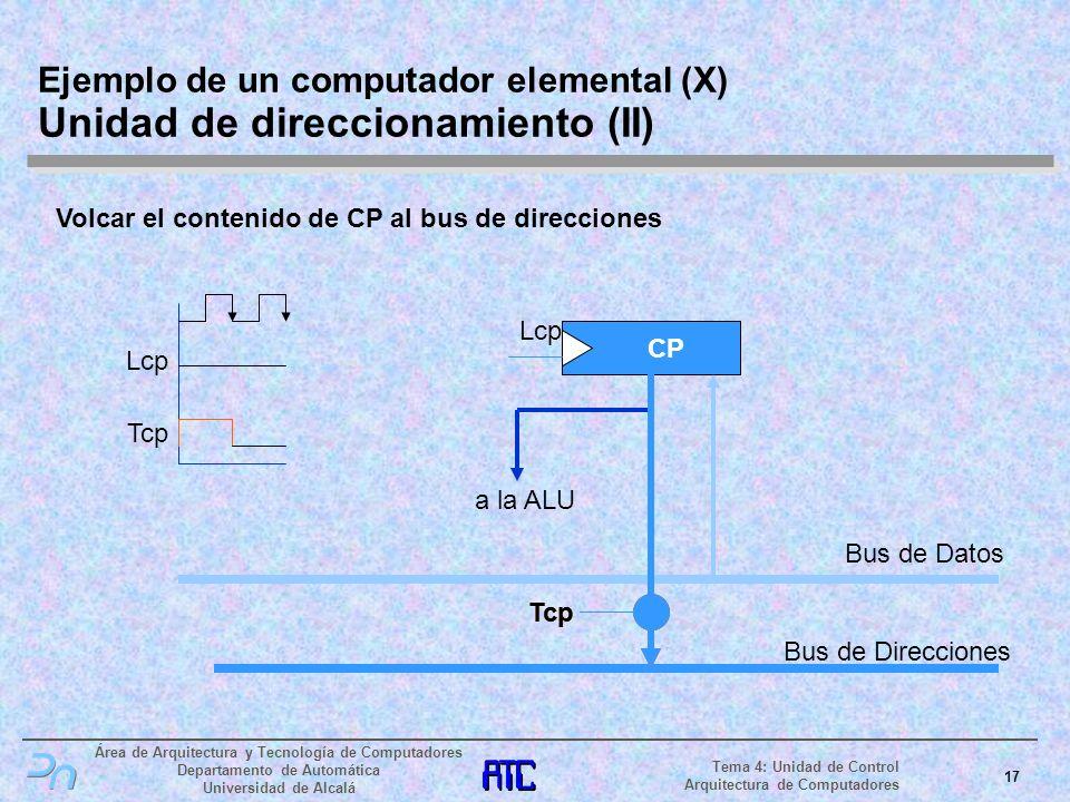 Ejemplo de un computador elemental (X) Unidad de direccionamiento (II)